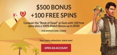 100 free spins book of dead canada