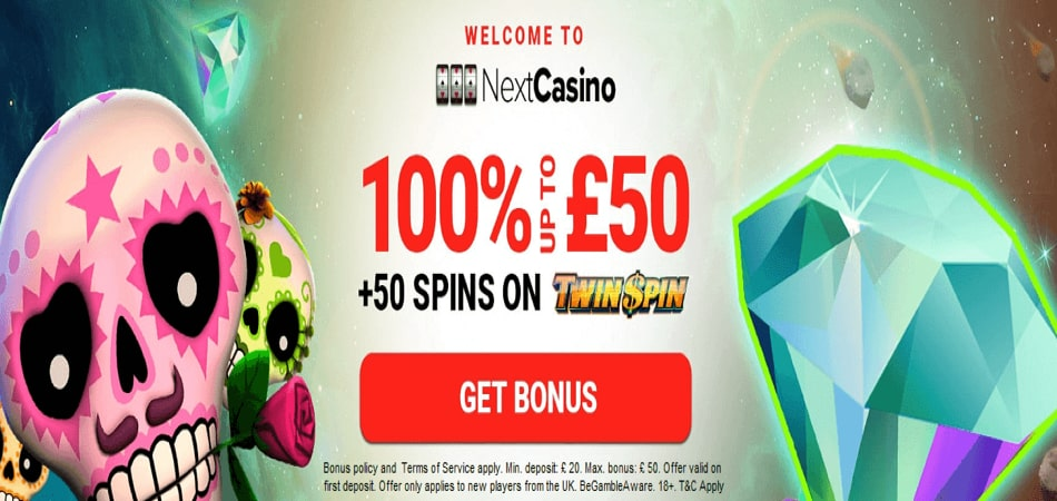Next Casino Free Spins Bonus Offer