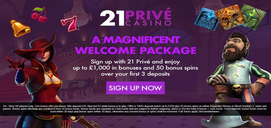 21Prive casino free spins