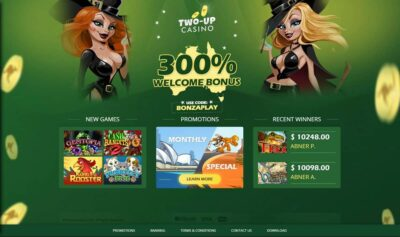 Two Up Casino Bonus