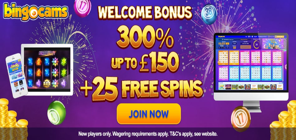 BingoCams free spins bonus offer for new players