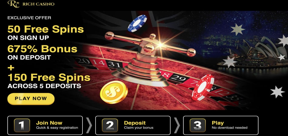 Rich Casino no deposit bonus code