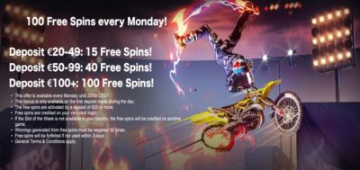 free spins every monday