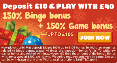Jingle Bingo welcome bonus