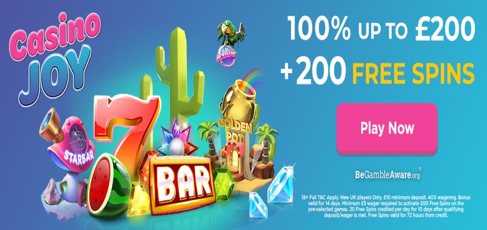 Casino Joy Sign up Bonus