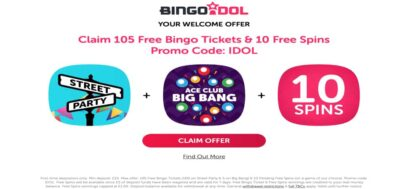 New Bingo Idol promo code and better bonuses