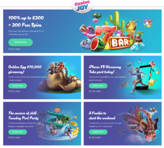 Casino Joy bonus code