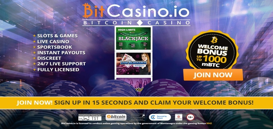 BitCasino deposit bonus offer