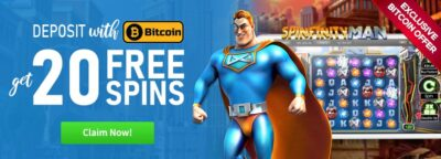 spinfinity man bitcoin offer cyber spins