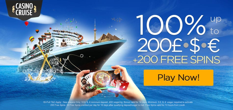Casino Cruise sign up bonus