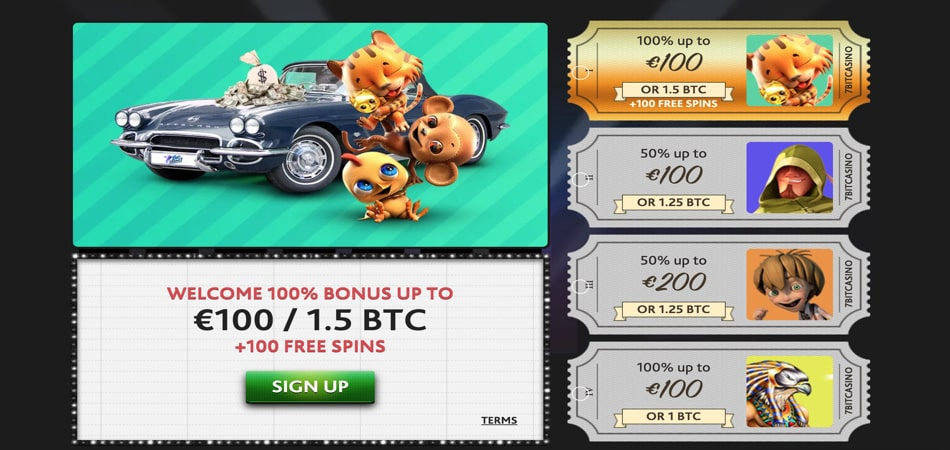 7Bit Casino free spins bonus offer