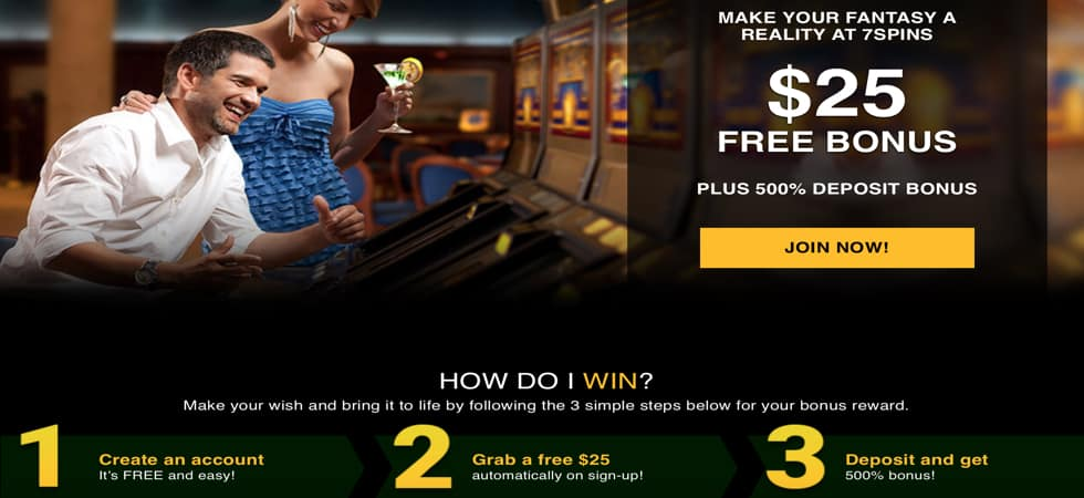 7 Spins Casino Sign Up Bonus
