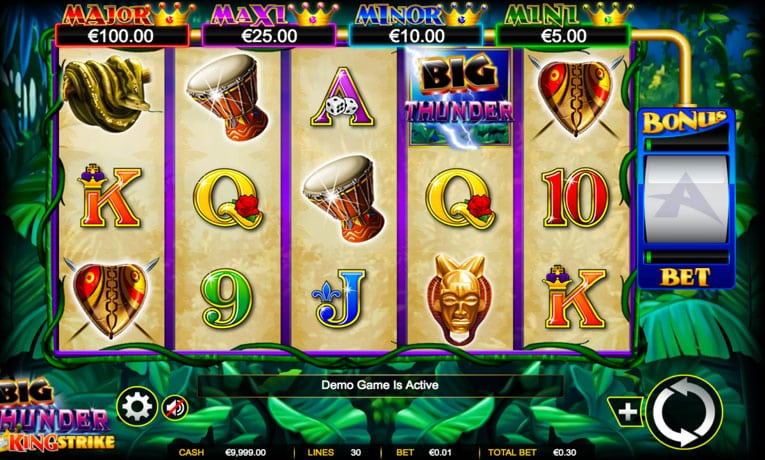 big thunder slot game