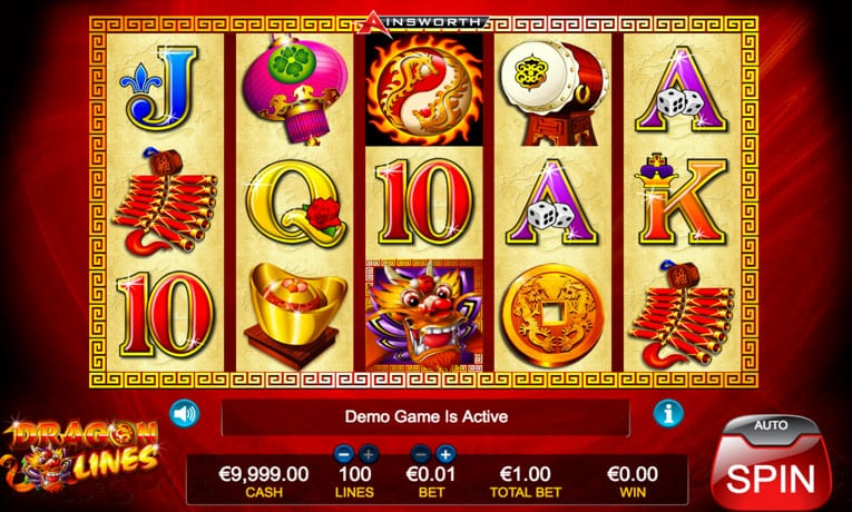 dragon lines slot game