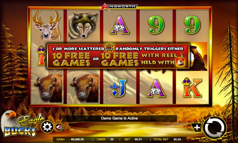 eagle bucks slot game