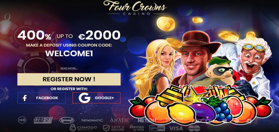 Four Crowns casino no deposit bonus