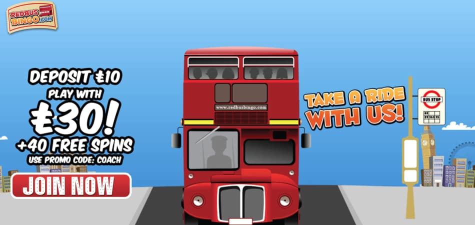 Redbus Bingo welcome bonus