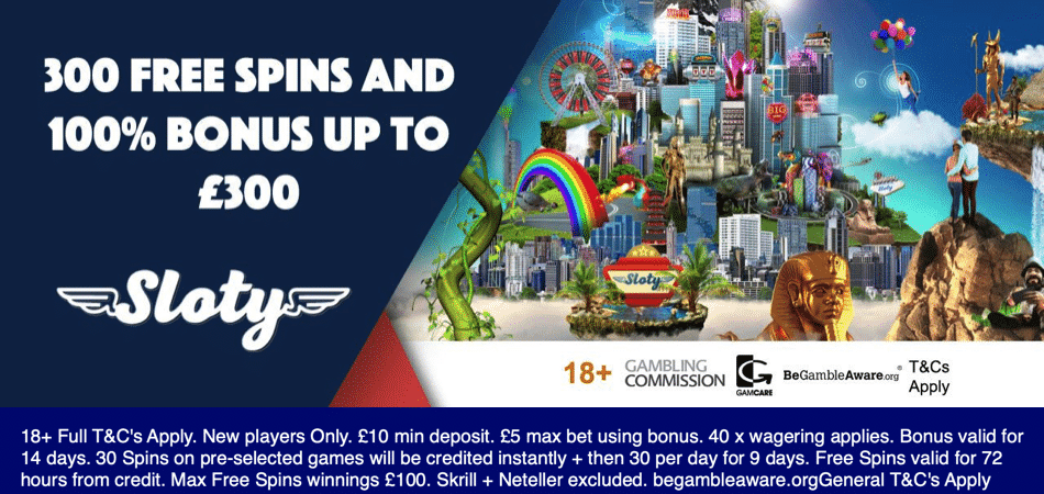 Sloty Casino free spins bonus offer