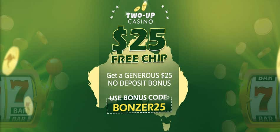 Jeton gratuit Two Up Casino