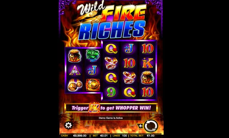 wild fire riches slot game