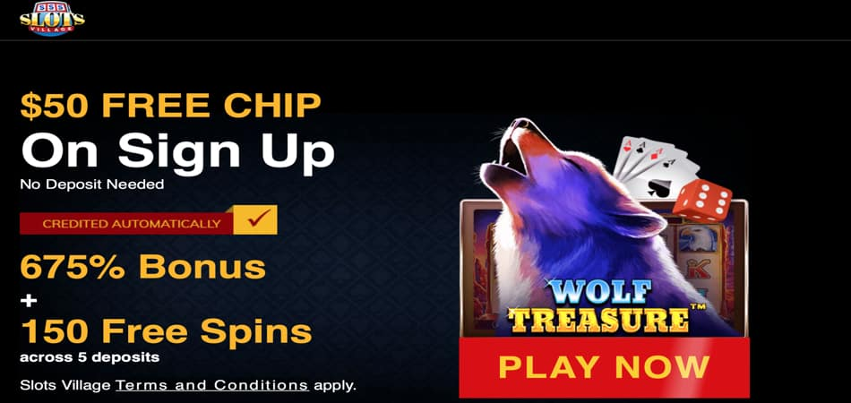 $50 Free Chip in Slots Village Casino