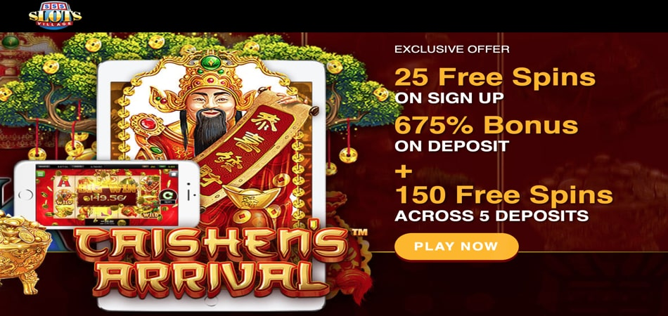 25 free spins in Caishen's Arrival slot game