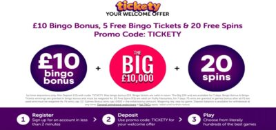 Tickety Bingo free spins