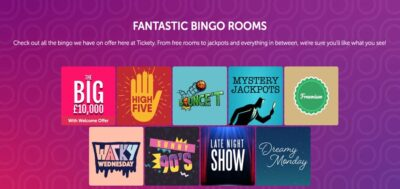 Tickety Bingo sign up bonus