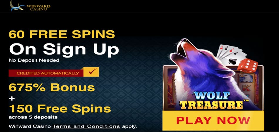 Wolf Treasure Free Spins in Winward Casino