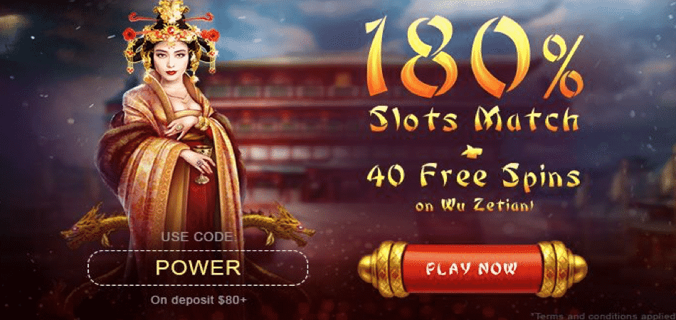 40 free spins in Wu Zetian at BoVegas Casino
