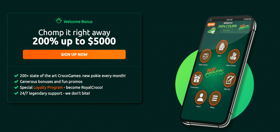 Play Croco $5000 Casino Bonus Codes