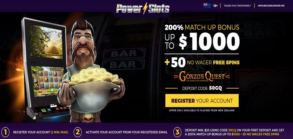 Power Slots New Zealand Bonus Code