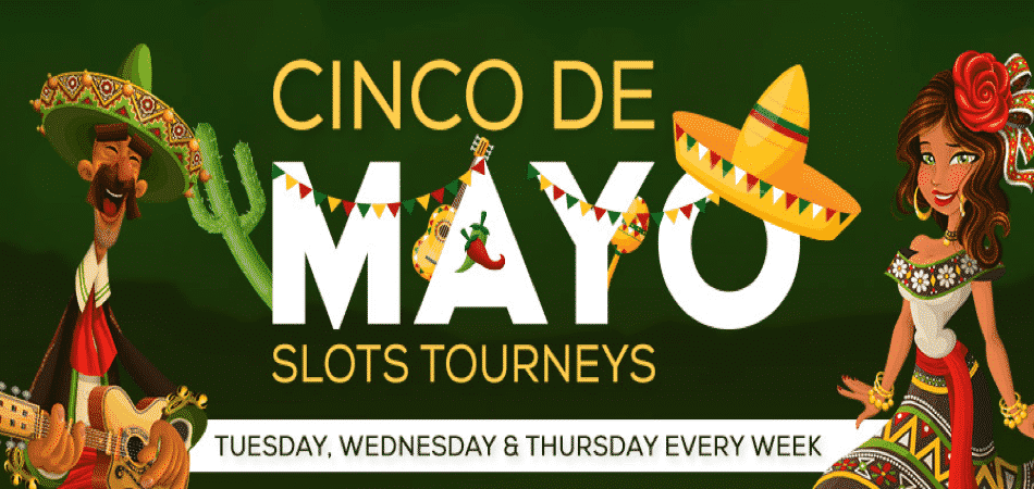 Celebrate Cinco De Mayo with $500 Slots tourney at Vegas Crest Casino!