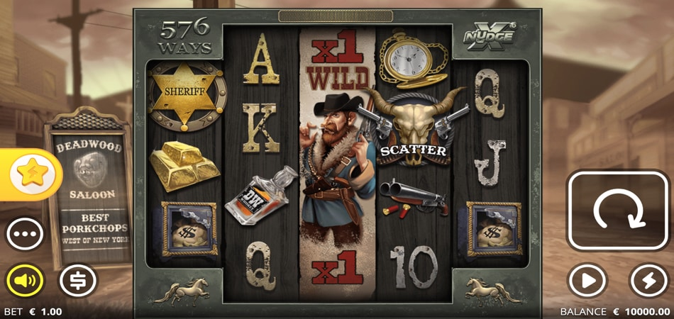 deadwood xnudge slot game