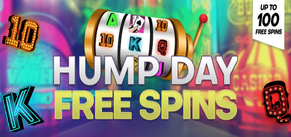 100 Hump Day Free Spins at Vegas Crest Casino!