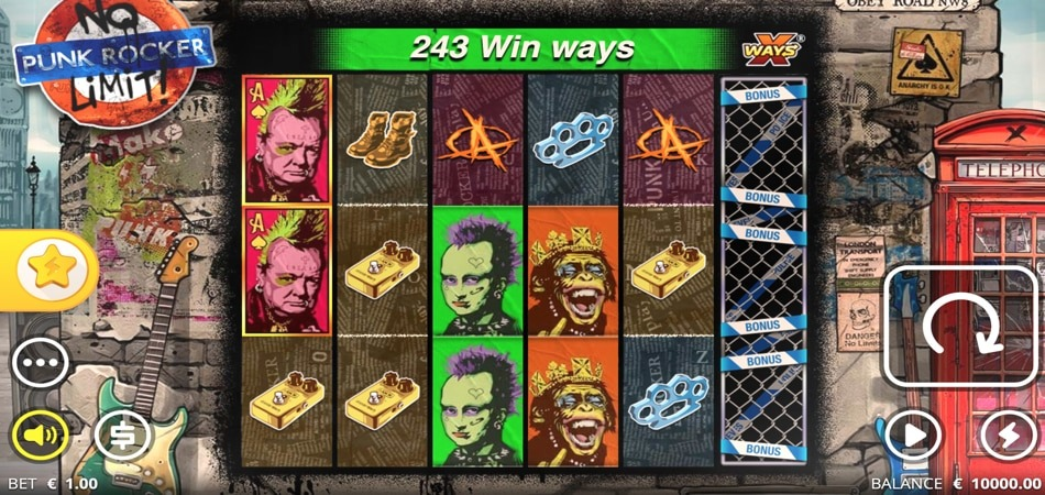 Punk Rocker slot game
