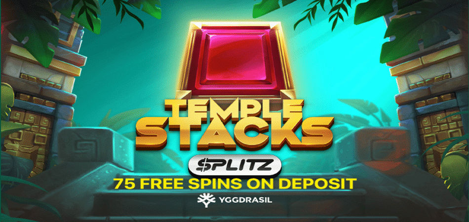temple stacks 75 free spins at 24kcasino