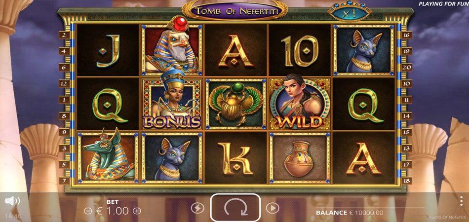 Tomb of Nefertiti slot game