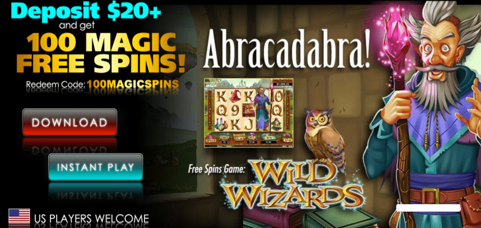 Wild Wizards bonus code at Slotocash