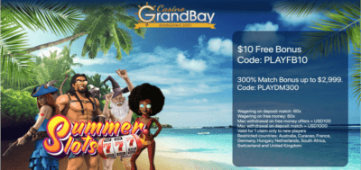 $10 free chip bonus code grand bay