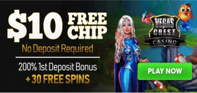 10 usd free chip vegas crest