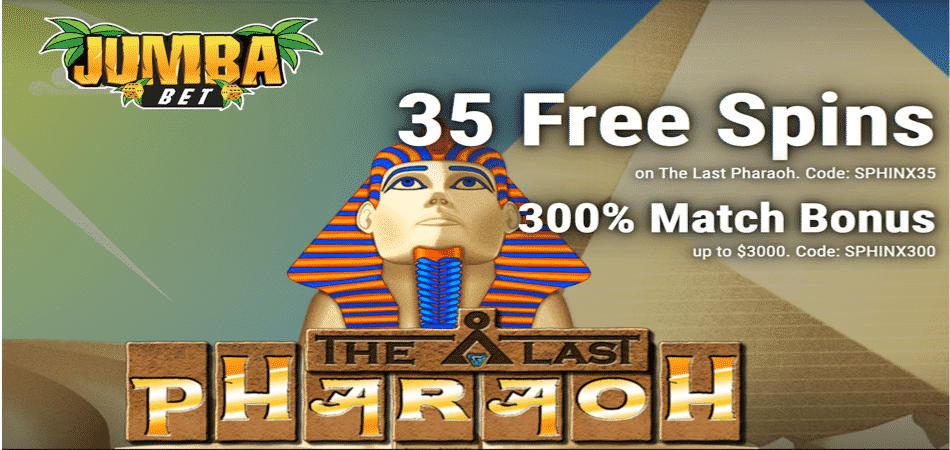 35 free spins bonus code to use in the last pharaoh slots