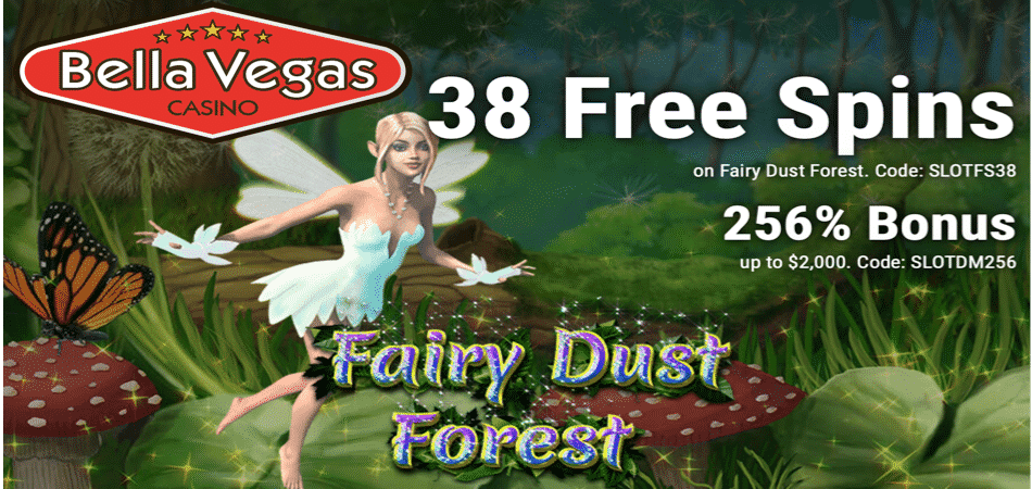 38 free spins bonus code fairy dust forest