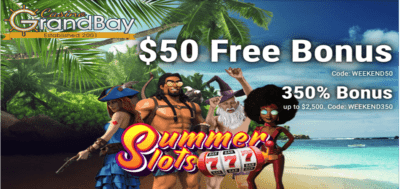 $50 free no deposit bonus code grand bay