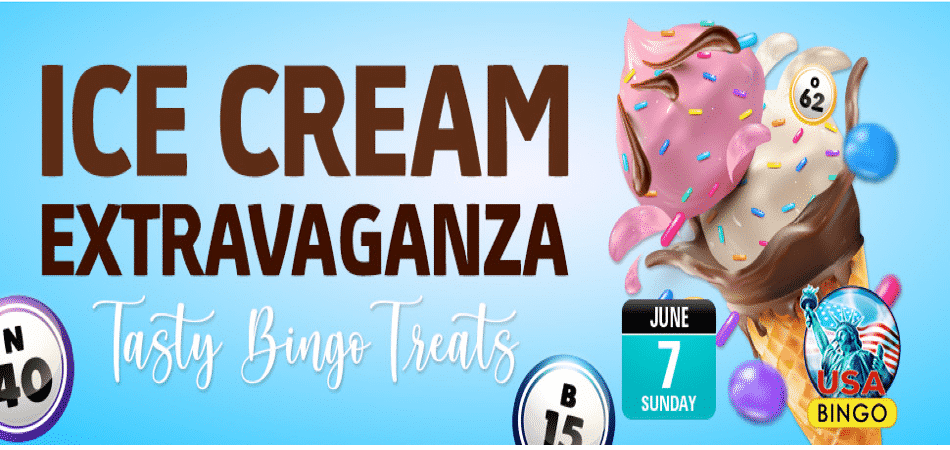 ice cream extravaganza bingo event