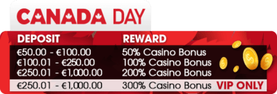 canada day offer vegas crest