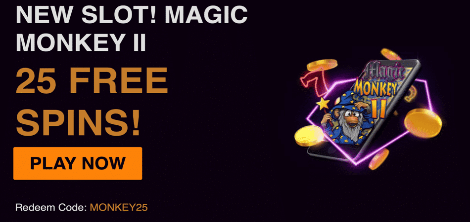 magic monkey 2 slot bonus code