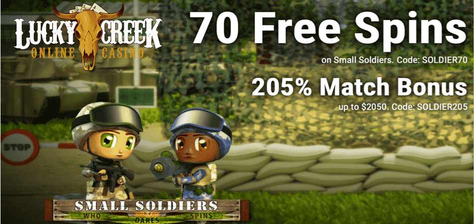 small soldiers bonus code at lucky creek