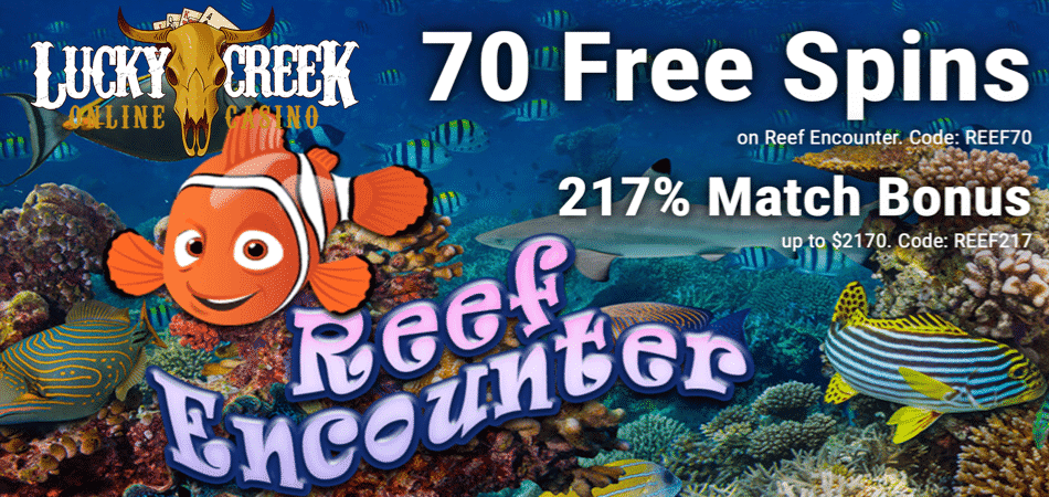 Codes bonus des machines à sous Reef Rencontre à Lucky Creek