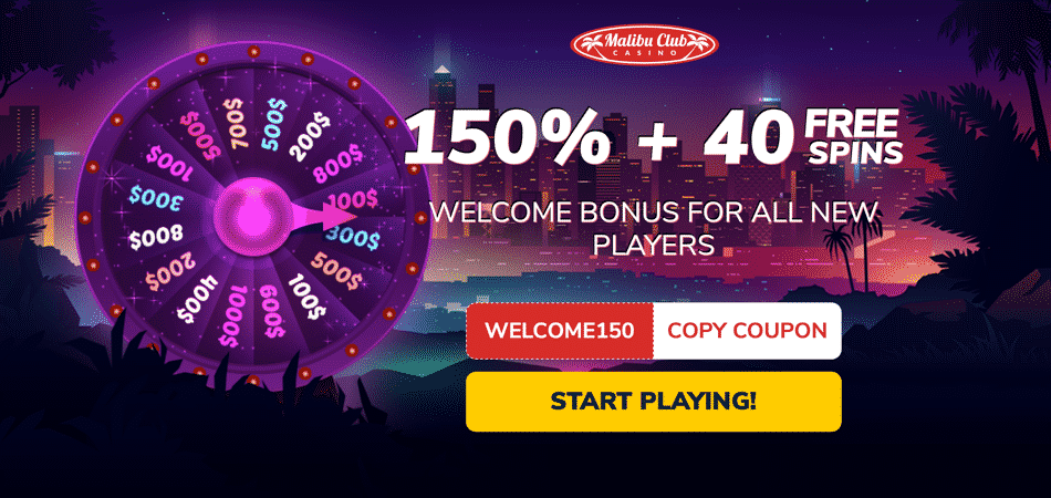 40 free spins bonus code at malibu club